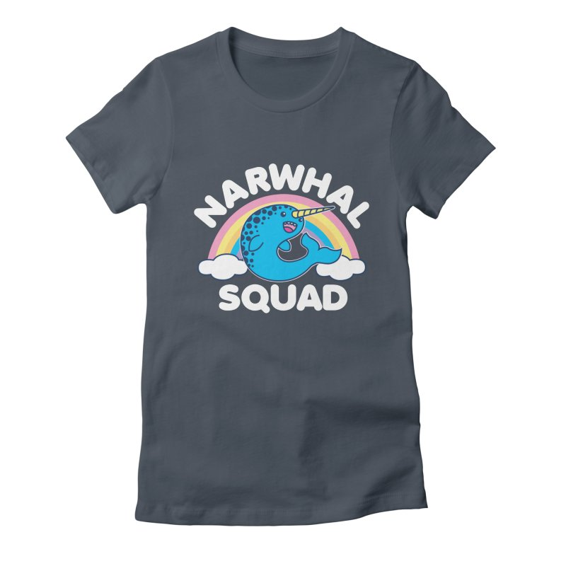 Narwhal Squad Cute Kawaii Unicorn Rainbow Women's T-Shirt by Detour Shirt's Artist Shop