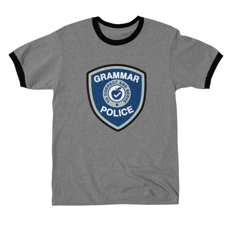 Grammar Police Badge Funny Saying Men's T-Shirt by Detour Shirt's Artist Shop