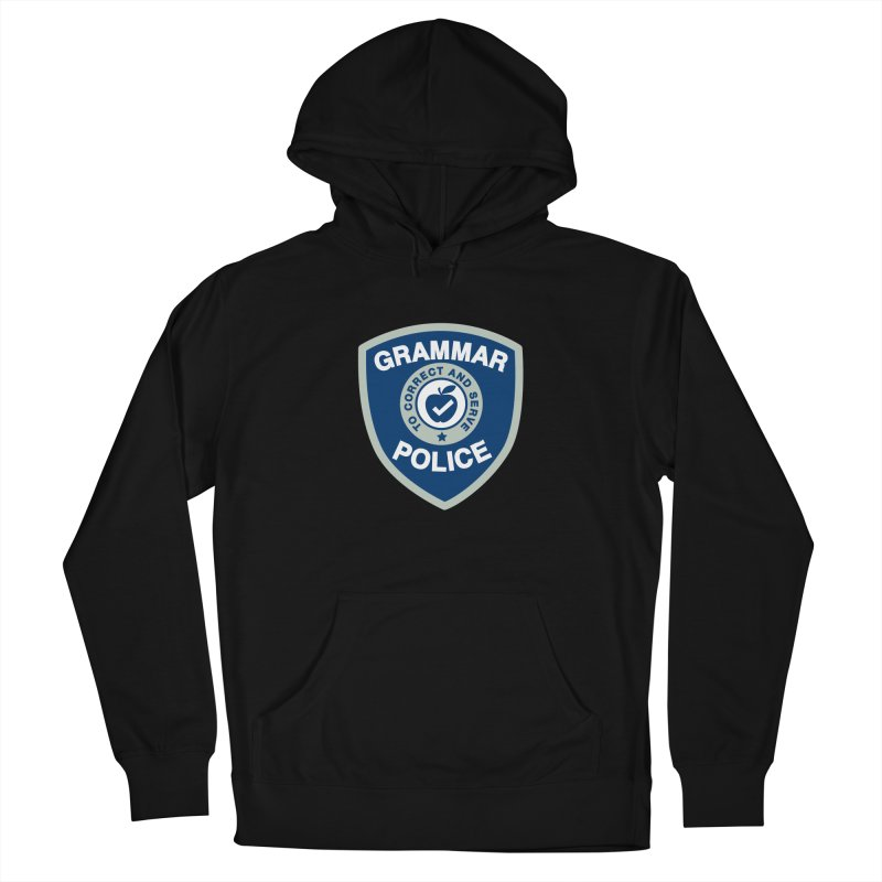 Grammar Police Badge Funny Saying Women's Pullover Hoody by Detour Shirt's Artist Shop