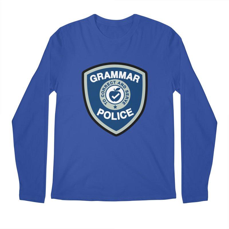 Grammar Police Badge Funny Saying Men's Longsleeve T-Shirt by Detour Shirt's Artist Shop