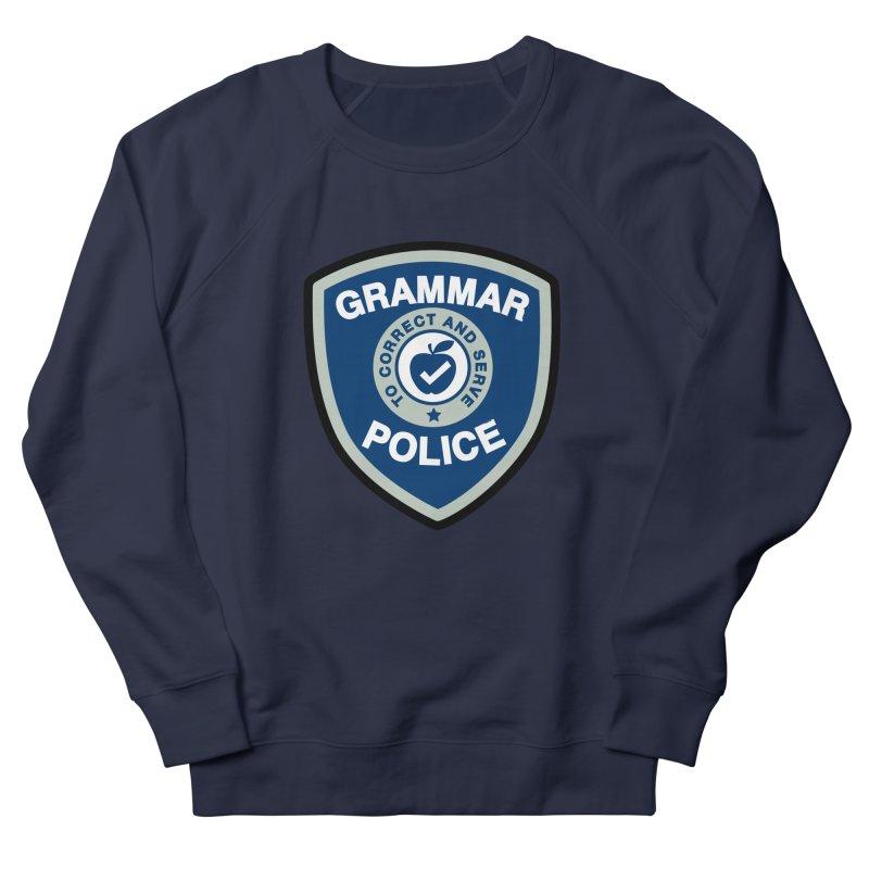 Grammar Police Badge Funny Saying Women's Sweatshirt by Detour Shirt's Artist Shop