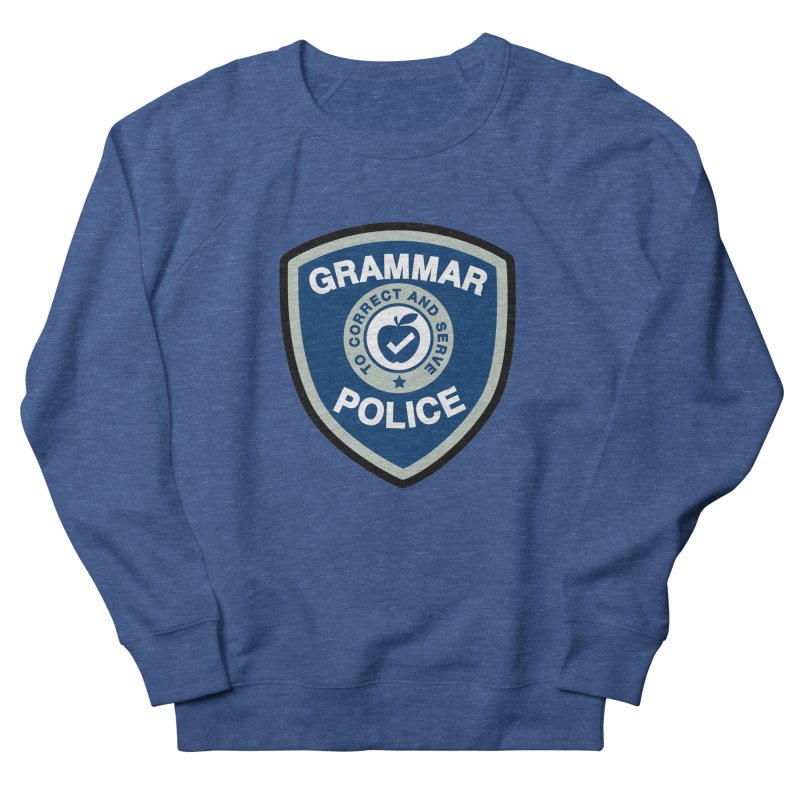 Grammar Police Badge Funny Saying Men's Sweatshirt by Detour Shirt's Artist Shop