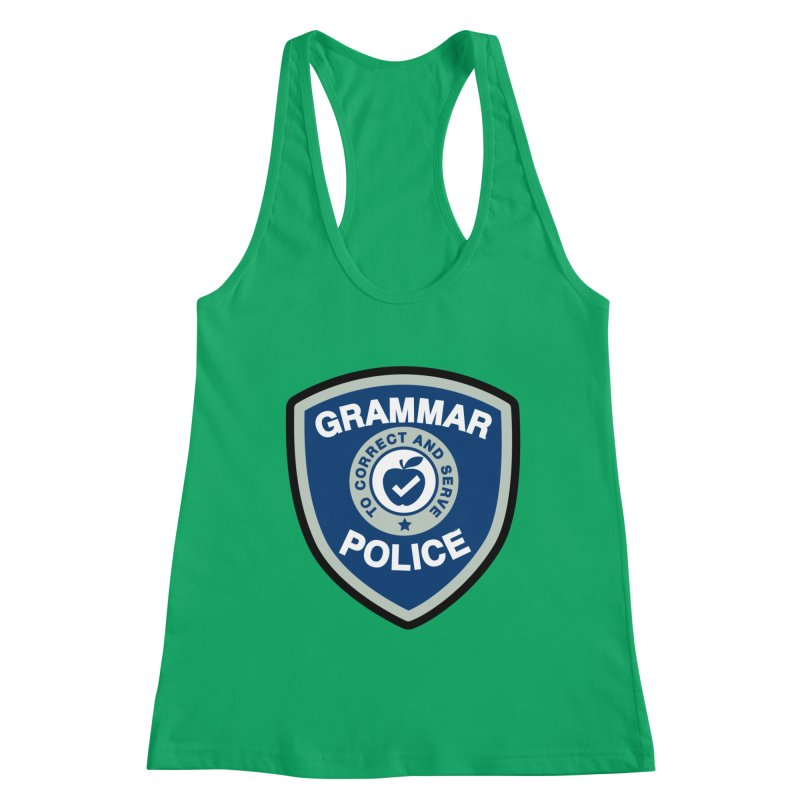 Grammar Police Badge Funny Saying Women's Tank by Detour Shirt's Artist Shop