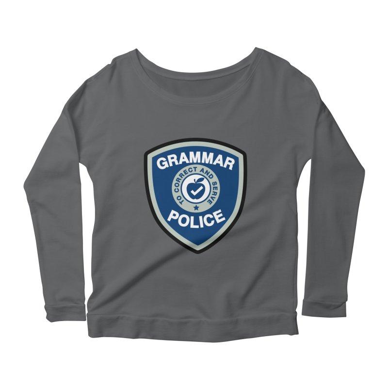 Grammar Police Badge Funny Saying Women's Longsleeve T-Shirt by Detour Shirt's Artist Shop