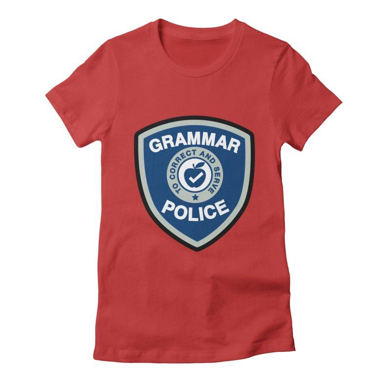 Grammar Police Badge Funny Saying Women's T-Shirt by Detour Shirt's Artist Shop