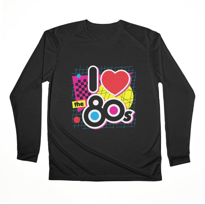 I Love The 80s Women's Longsleeve T-Shirt by Detour Shirt's Artist Shop