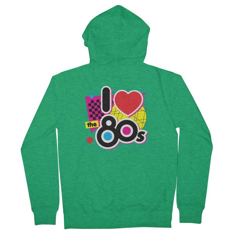 I Love The 80s Men's Zip-Up Hoody by Detour Shirt's Artist Shop