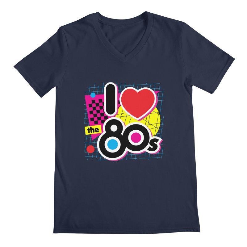 I Love The 80s Men's V-Neck by Detour Shirt's Artist Shop
