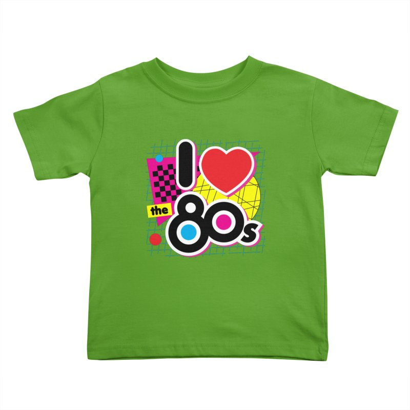 I Love The 80s Kids Toddler T-Shirt by Detour Shirt's Artist Shop