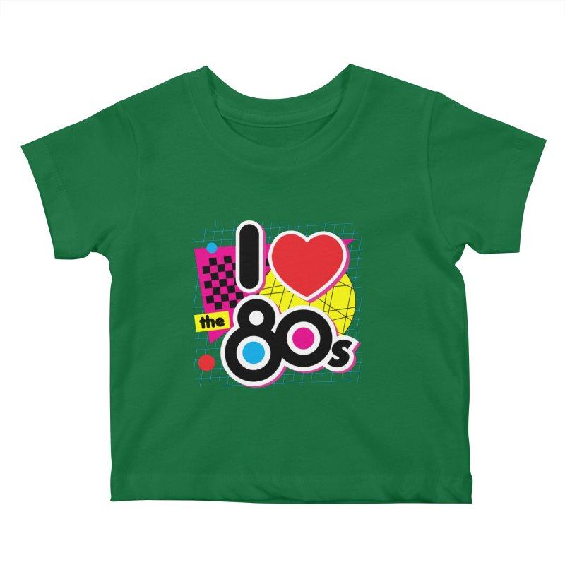 I Love The 80s Kids Baby T-Shirt by Detour Shirt's Artist Shop