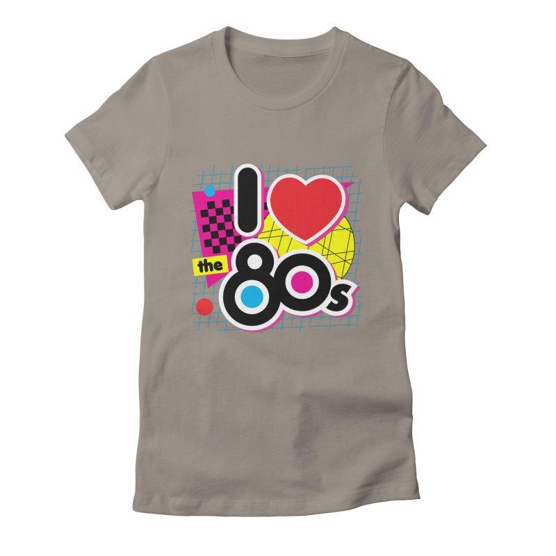 I Love The 80s Women's T-Shirt by Detour Shirt's Artist Shop
