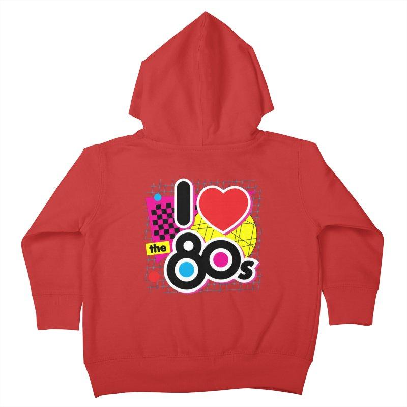 I Love The 80s Kids Toddler Zip-Up Hoody by Detour Shirt's Artist Shop