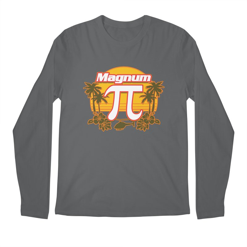 Magnum Pi Hawaiian Pi Day Design Men's Longsleeve T-Shirt by Detour Shirt's Artist Shop