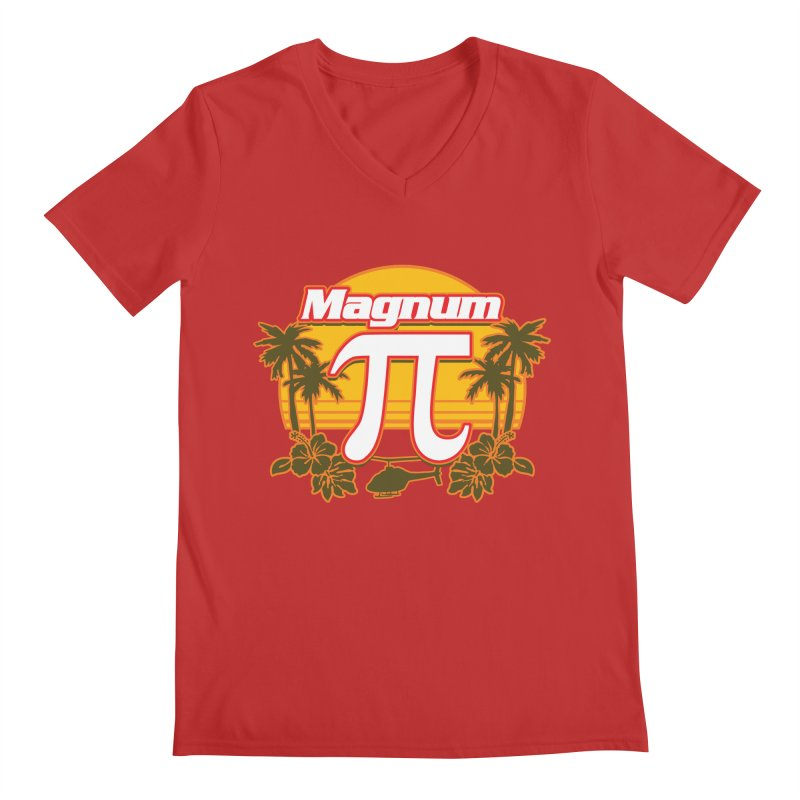 Magnum Pi Hawaiian Pi Day Design Men's V-Neck by Detour Shirt's Artist Shop