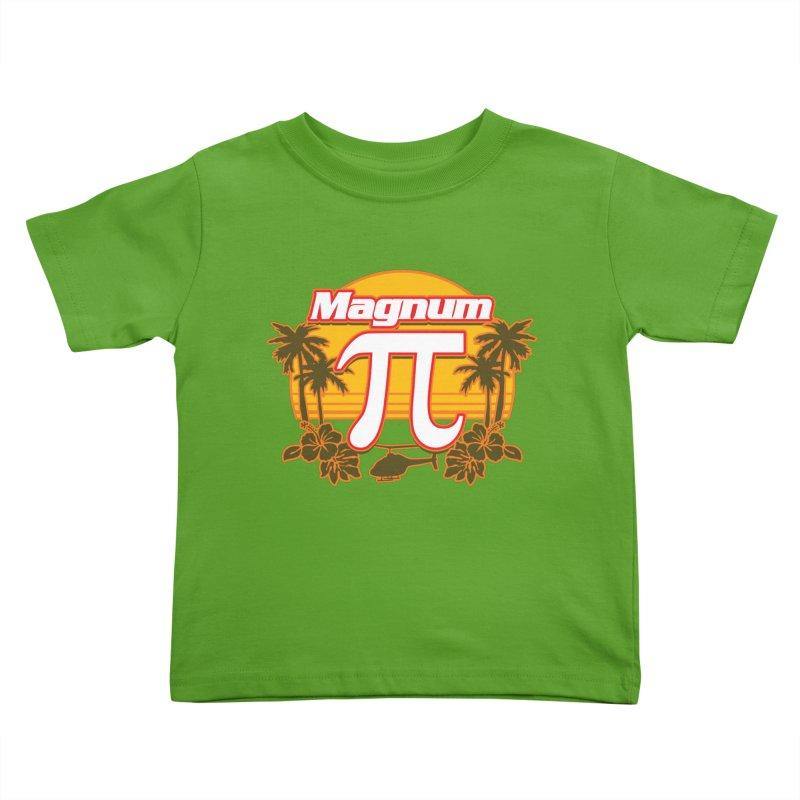 Magnum Pi Hawaiian Pi Day Design Kids Toddler T-Shirt by Detour Shirt's Artist Shop