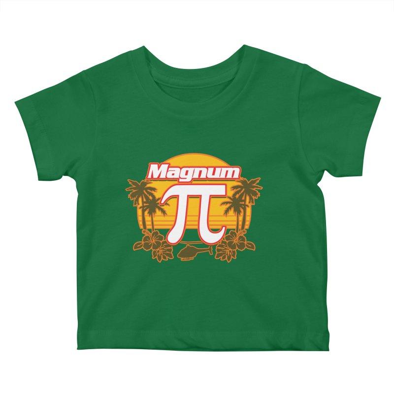 Magnum Pi Hawaiian Pi Day Design Kids Baby T-Shirt by Detour Shirt's Artist Shop