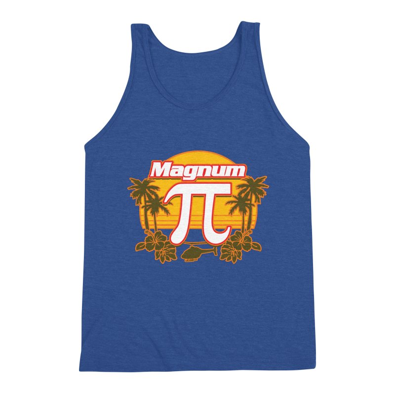 Magnum Pi Hawaiian Pi Day Design Men's Tank by Detour Shirt's Artist Shop