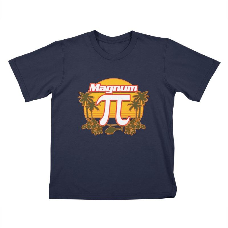 Magnum Pi Hawaiian Pi Day Design Kids T-Shirt by Detour Shirt's Artist Shop