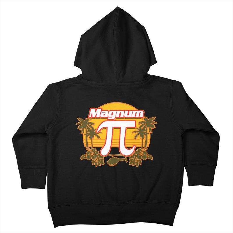Magnum Pi Hawaiian Pi Day Design Kids Toddler Zip-Up Hoody by Detour Shirt's Artist Shop