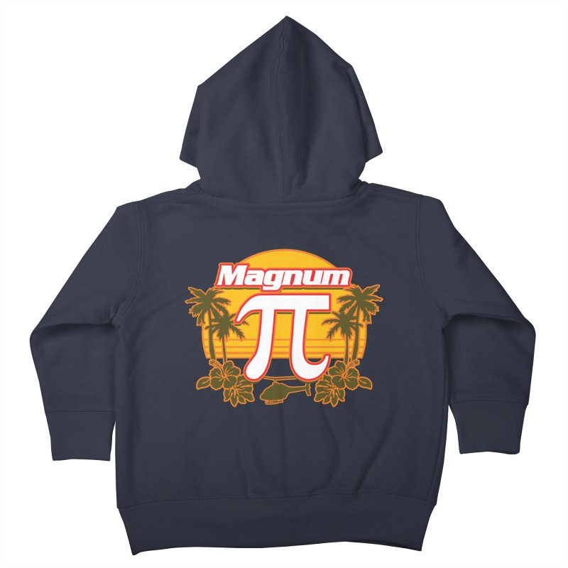 Magnum Pi Hawaiian Pi Day Design Kids Toddler Zip-Up Hoody by Detour Shirt's Artist Shop