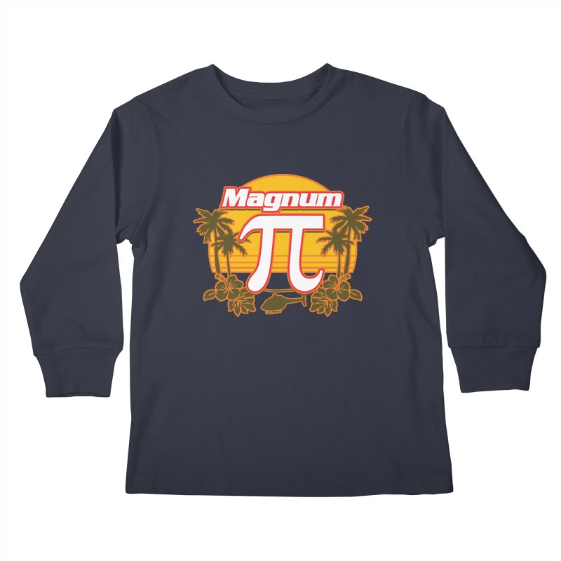 Magnum Pi Hawaiian Pi Day Design Kids Longsleeve T-Shirt by Detour Shirt's Artist Shop