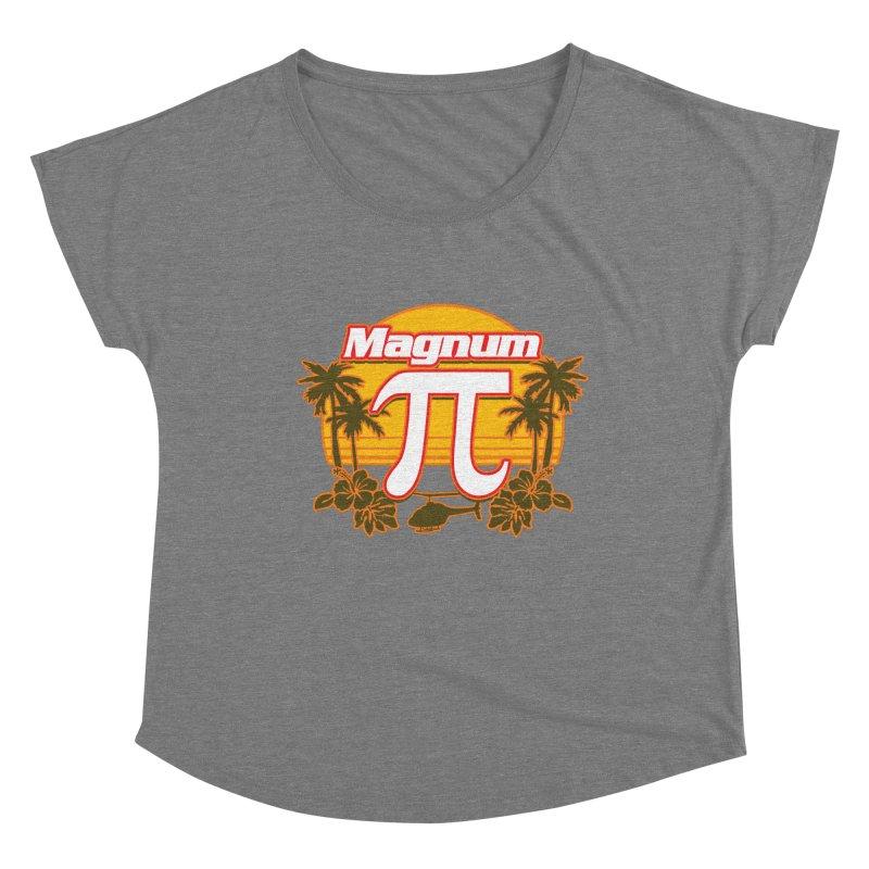 Magnum Pi Hawaiian Pi Day Design Women's Scoop Neck by Detour Shirt's Artist Shop