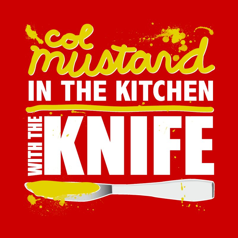 Colonel Mustard in the Kitchen with the Knife Kids Longsleeve T-Shirt by Detour Shirt's Artist Shop
