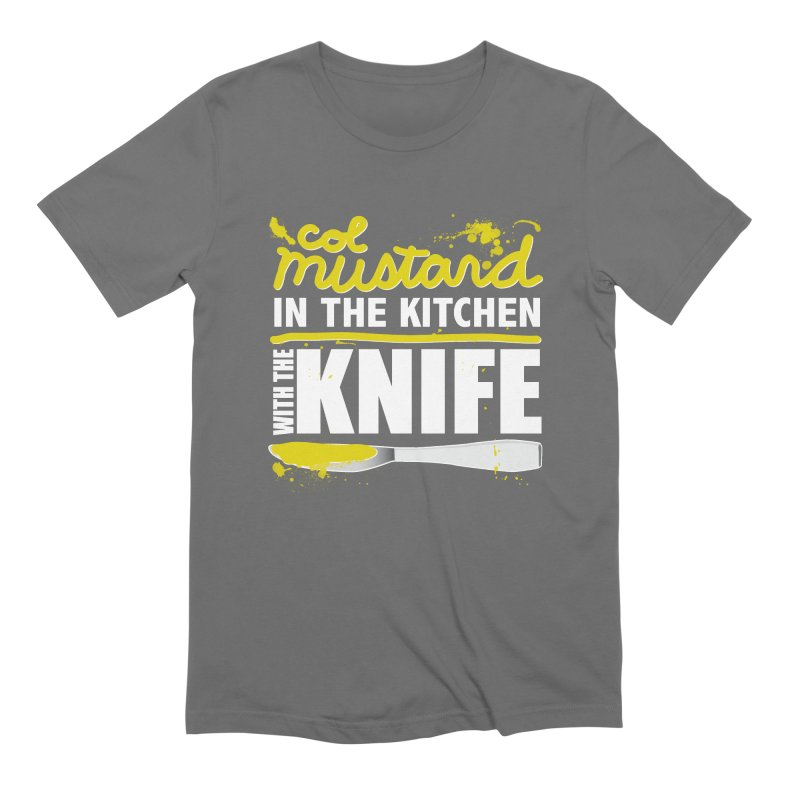 Colonel Mustard in the Kitchen with the Knife Men's T-Shirt by Detour Shirt's Artist Shop