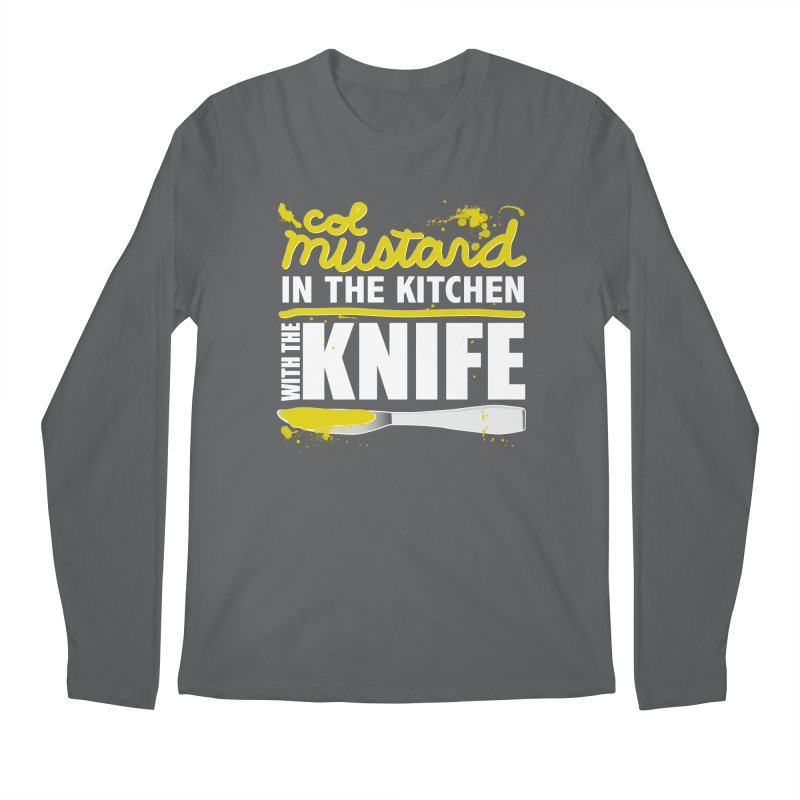 Colonel Mustard in the Kitchen with the Knife Men's Longsleeve T-Shirt by Detour Shirt's Artist Shop