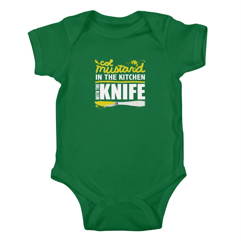 Colonel Mustard in the Kitchen with the Knife Kids Baby Bodysuit by Detour Shirt's Artist Shop