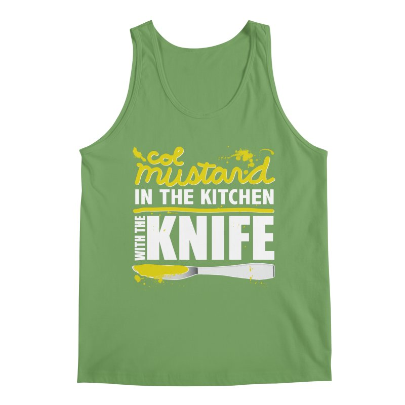 Colonel Mustard in the Kitchen with the Knife Men's Tank by Detour Shirt's Artist Shop