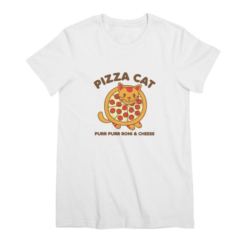 Pizza Cat Funny Mashup Food Animal Women's T-Shirt by Detour Shirt's Artist Shop