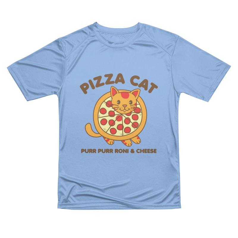 Pizza Cat Funny Mashup Food Animal Men's T-Shirt by Detour Shirt's Artist Shop