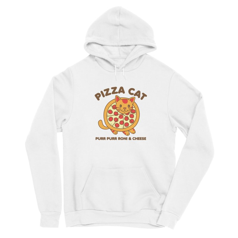 Pizza Cat Funny Mashup Food Animal Men's Pullover Hoody by Detour Shirt's Artist Shop