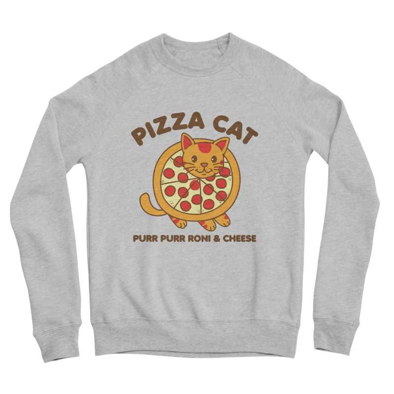 Pizza Cat Funny Mashup Food Animal Women's Sweatshirt by Detour Shirt's Artist Shop