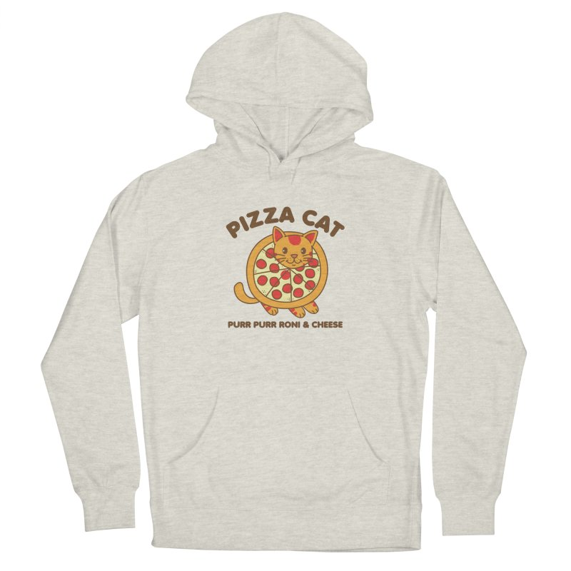 Pizza Cat Funny Mashup Food Animal Women's Pullover Hoody by Detour Shirt's Artist Shop