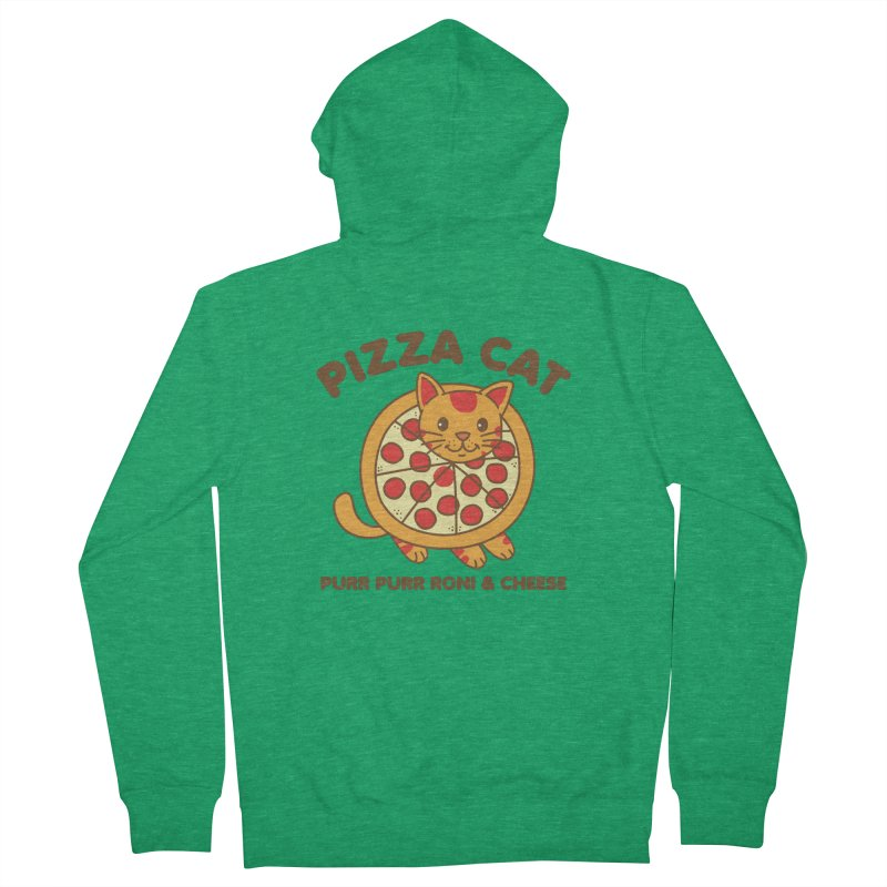 Pizza Cat Funny Mashup Food Animal Women's Zip-Up Hoody by Detour Shirt's Artist Shop