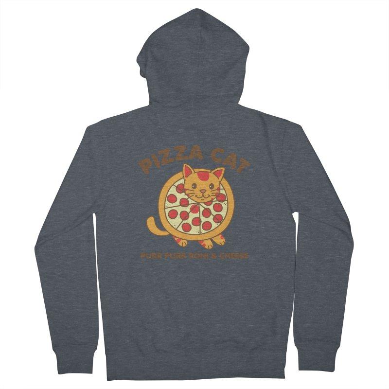 Pizza Cat Funny Mashup Food Animal Women's Zip-Up Hoody by Detour Shirt's Artist Shop