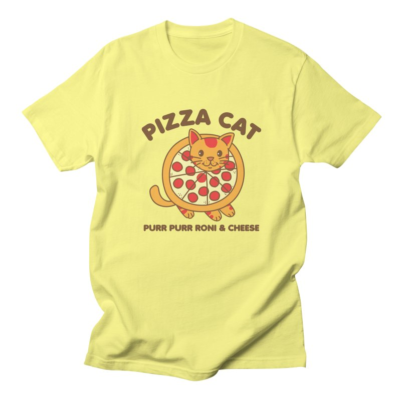 Pizza Cat Funny Mashup Food Animal Men's T-Shirt by Detour Shirt's Artist Shop