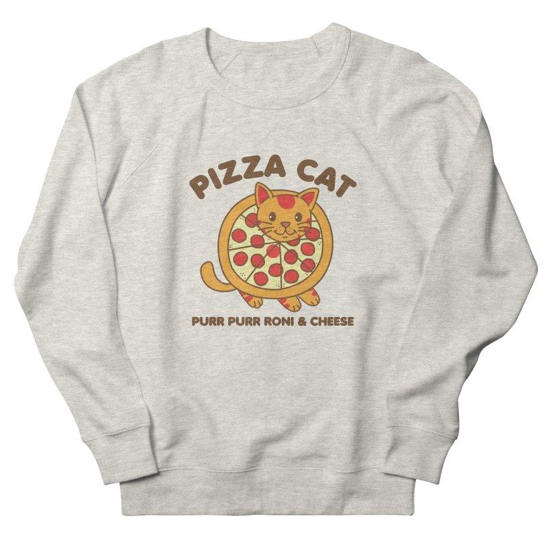 Pizza Cat Funny Mashup Food Animal Women's Sweatshirt by Detour Shirt's Artist Shop