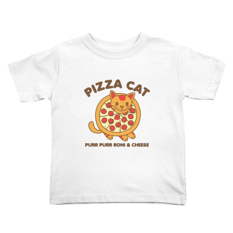 Pizza Cat Funny Mashup Food Animal Kids Toddler T-Shirt by Detour Shirt's Artist Shop