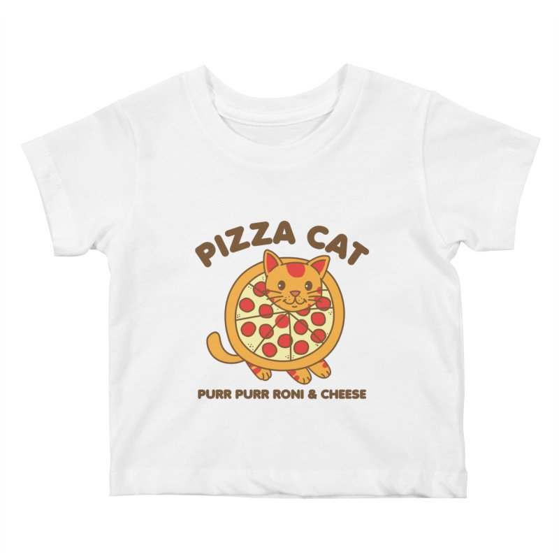Pizza Cat Funny Mashup Food Animal Kids Baby T-Shirt by Detour Shirt's Artist Shop