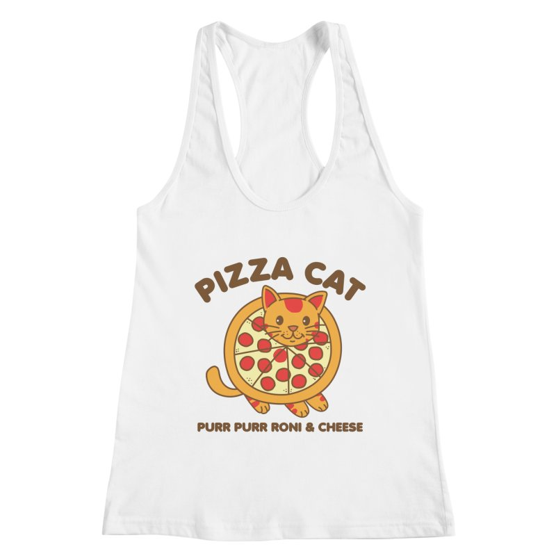 Pizza Cat Funny Mashup Food Animal Women's Tank by Detour Shirt's Artist Shop