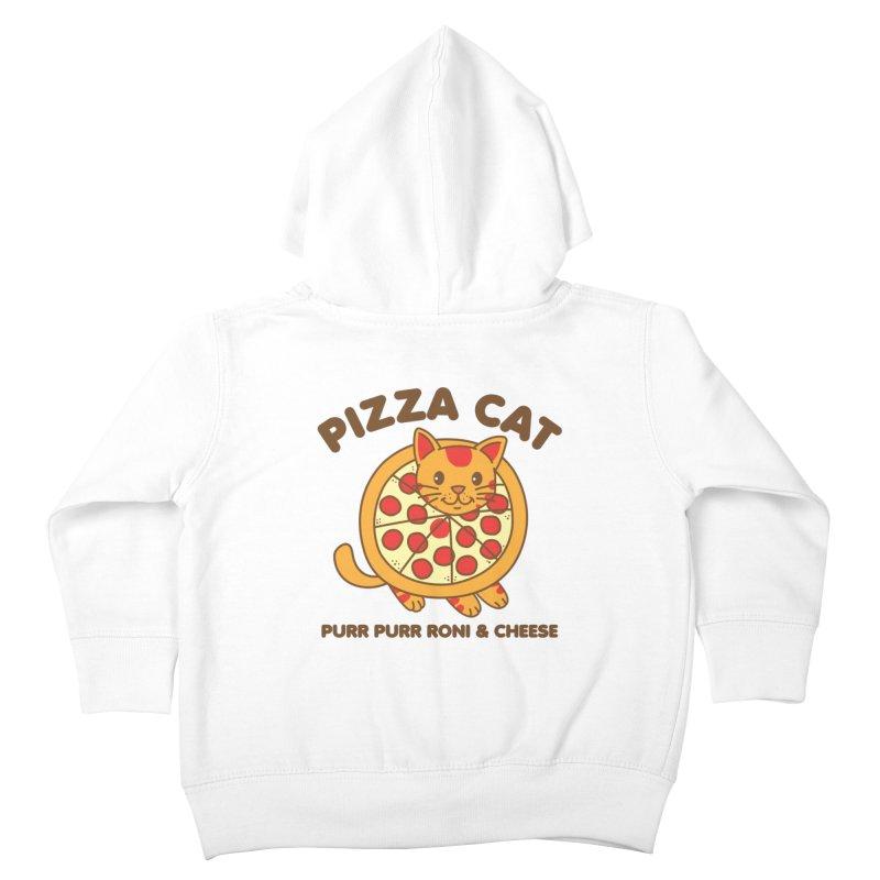 Pizza Cat Funny Mashup Food Animal Kids Toddler Zip-Up Hoody by Detour Shirt's Artist Shop