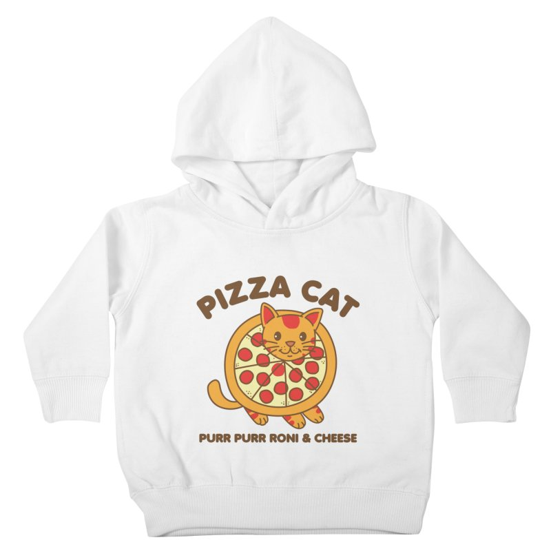 Pizza Cat Funny Mashup Food Animal Kids Toddler Pullover Hoody by Detour Shirt's Artist Shop