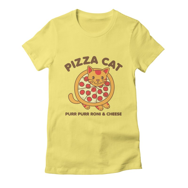 Pizza Cat Funny Mashup Food Animal Women's T-Shirt by Detour Shirt's Artist Shop