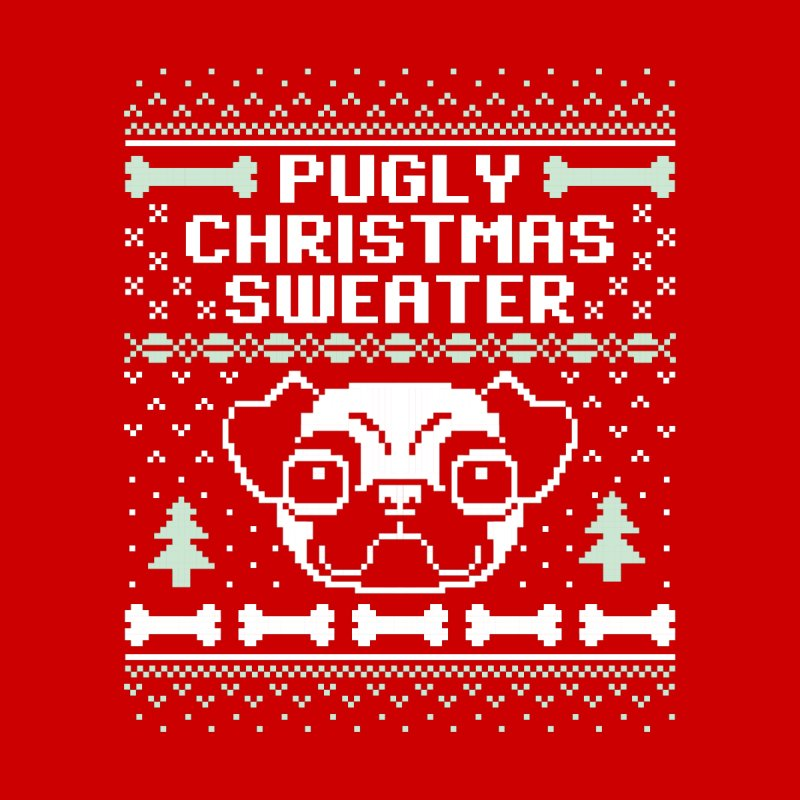 Pugly Christmas Sweater Pug Lovers Design Kids Baby Zip-Up Hoody by Detour Shirt's Artist Shop