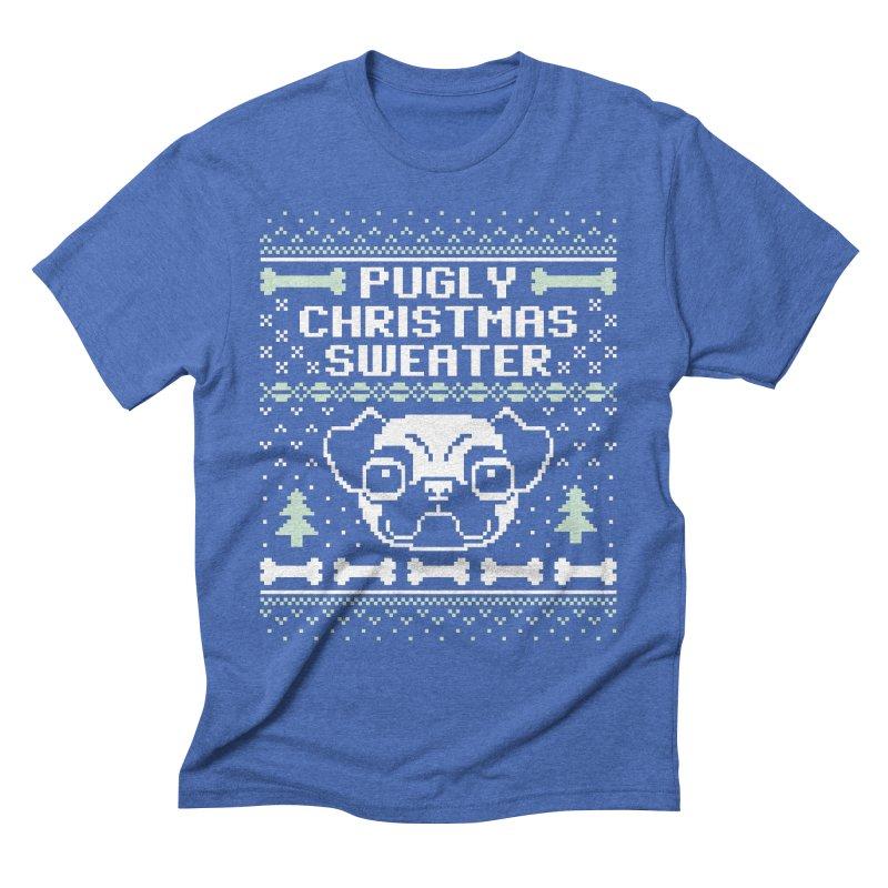 Pugly Christmas Sweater Pug Lovers Design Men's T-Shirt by Detour Shirt's Artist Shop