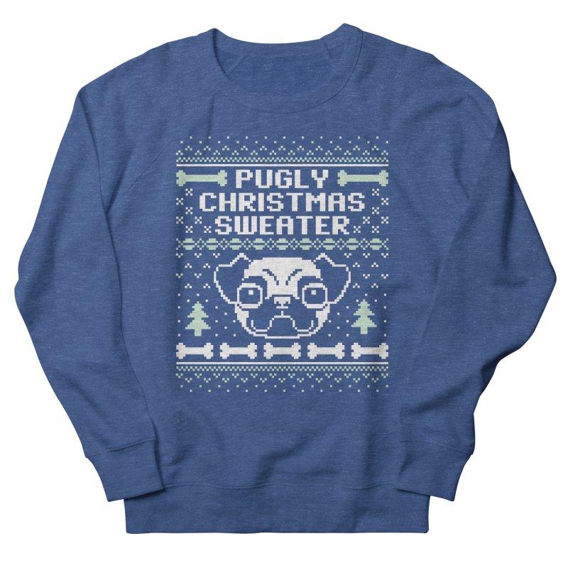 Pugly Christmas Sweater Pug Lovers Design Men's Sweatshirt by Detour Shirt's Artist Shop
