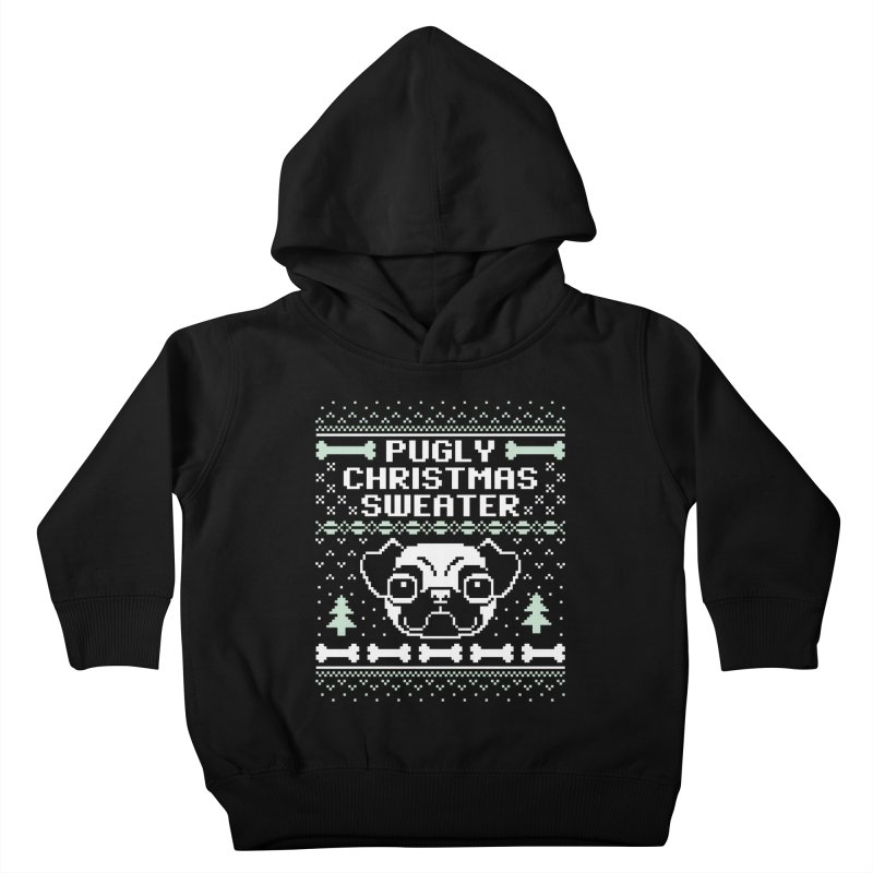 Pugly Christmas Sweater Pug Lovers Design Kids Toddler Pullover Hoody by Detour Shirt's Artist Shop